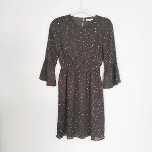 H&M dress|Olive Green Polka  dress